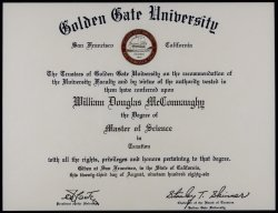 Golden Gate University Diploma